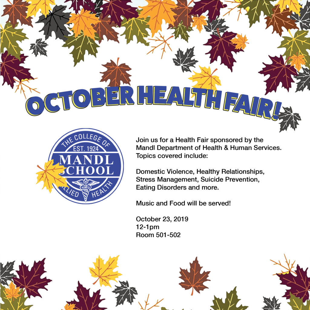 Mandl Health Fair poster