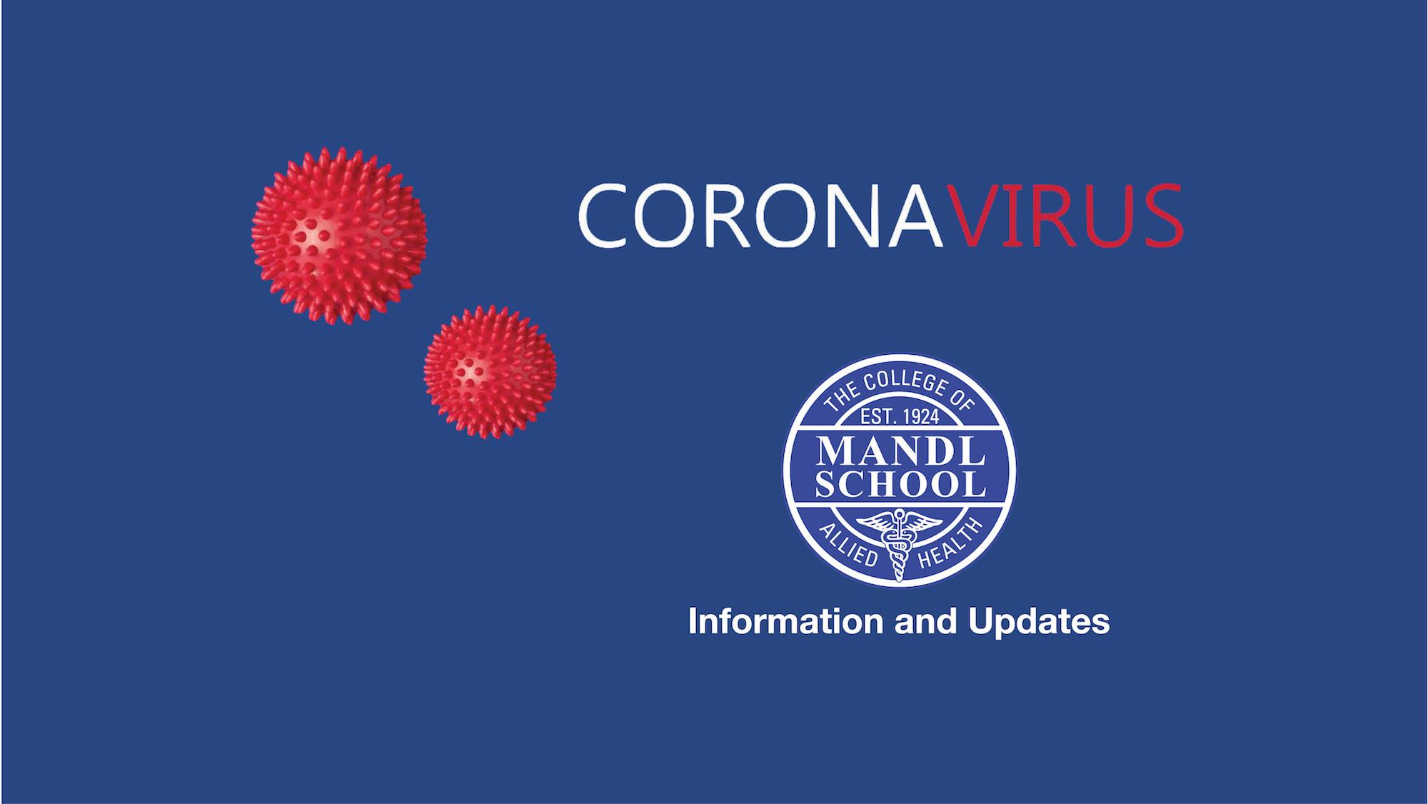 Mandl School Coronavirus page header